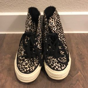 Calf Hair Converse Shoes (size 5.5)